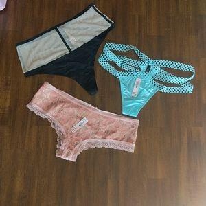 3 Pairs VS Panties Size Med. NWT